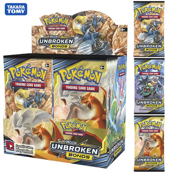 324pcs card Pokemon TCG: Sun & Moon UNBROKEN BONDS Trading Card Game A Box of 36 Bags Collection High-quality cards a promise unbroken