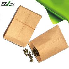 Sac de graines en papier Kraft 80G, 100 paquets, trempage, utilisation de graines, sac en papier Kraft, utilisation hybride, créatif, taille 6x10Cm