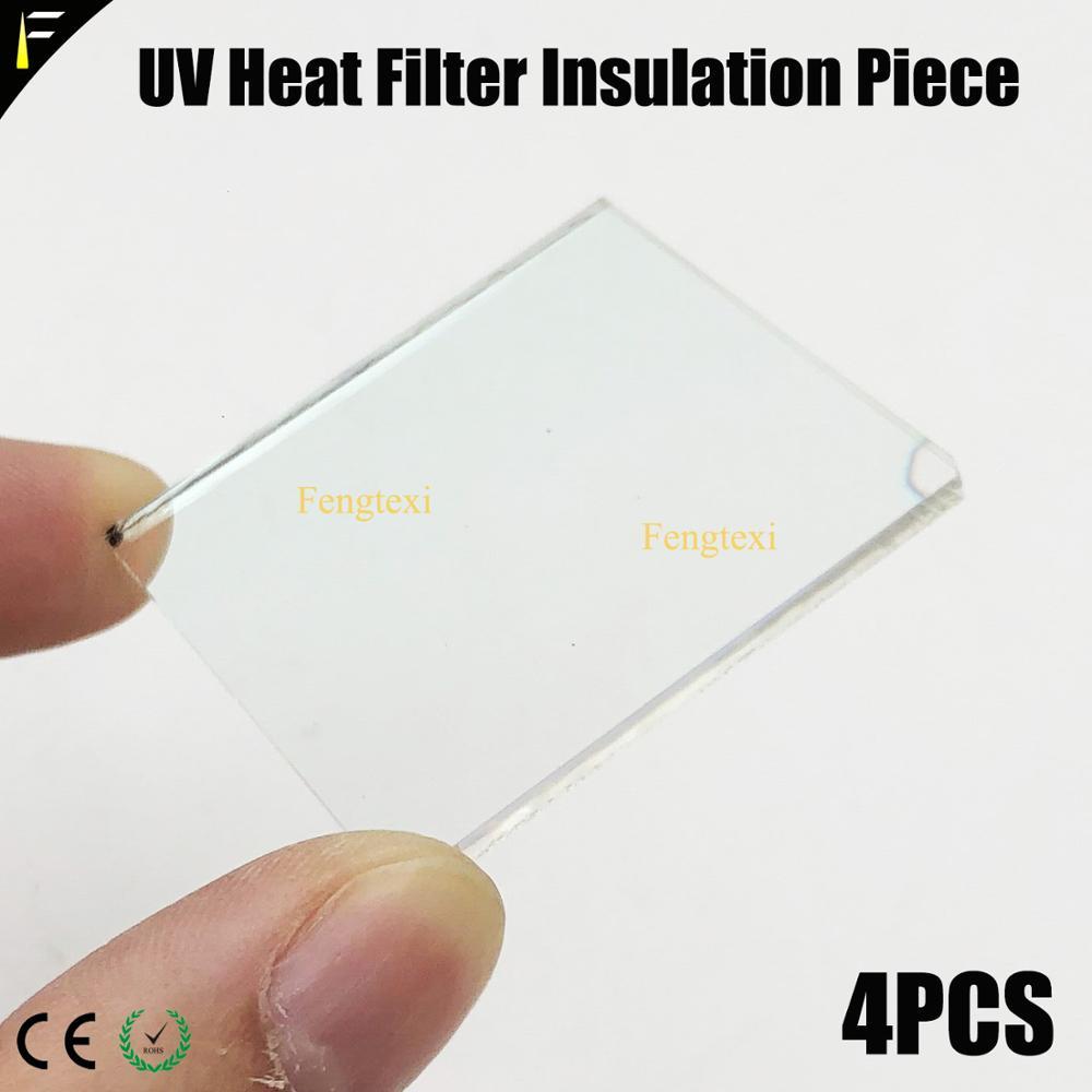 4pieces Moving Beam Light Spot 7R 230 16R 330 17R 350 40x40mm 52x40mm UV Heat Filter Insulation Piece Heat Resisting Sheet Glass