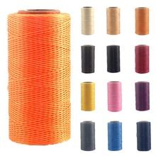 19 цветов 1 рулон прочный полиэфирный кожаный вощеный шнур для DIY инструмент для рукоделия ручная строчка нить 260 м 1 мм 150D#734