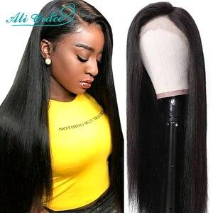 Image 2 - Ali Grace – Perruques de cheveux raides T, à dentelle frontale pour femme, brésiliens, humains, en 13x4, couleur naturelle