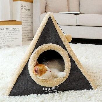 Novedad en alfombrillas para camas de gatos de Cave, colchón lavable de princesa para invierno, Cama de Gato, cama de felpa para dormir, Mascotas, Accesorios para gatos, producto OO50MW