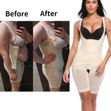 Corset Shapewear Bodysuit Body-Shaper Fajas Tummy-Control Thigh-Reducer Slimming Underwear