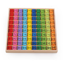 Montessori Educational Kids Toys Baby Math Arithmetic Toys 99 Multiplication Table Wooden Math Building Blocks Teaching Aids