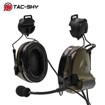 COMTAC II TAC-SKY comtacii helmet bracket silicone earmuffs noise reduction pickup military  shooting tactical headset C2FG