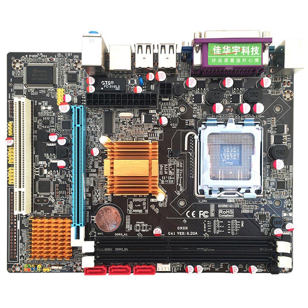 G41 Desktop Computer Motherboard Support 771/775CPU Dual DDR3 Computer Motherboard 6 Channel Replacement