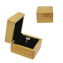 Simple Exquisite Decorative Gift Wood Jewellery crystal display Box Ring Earring small jewelry boxes