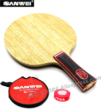 цена на SANWEI FEXTRA 7 Table Tennis Blade 7 ply wood all-around Japan Tech (stiga clipper CL Structure) ping pong racket bat paddle