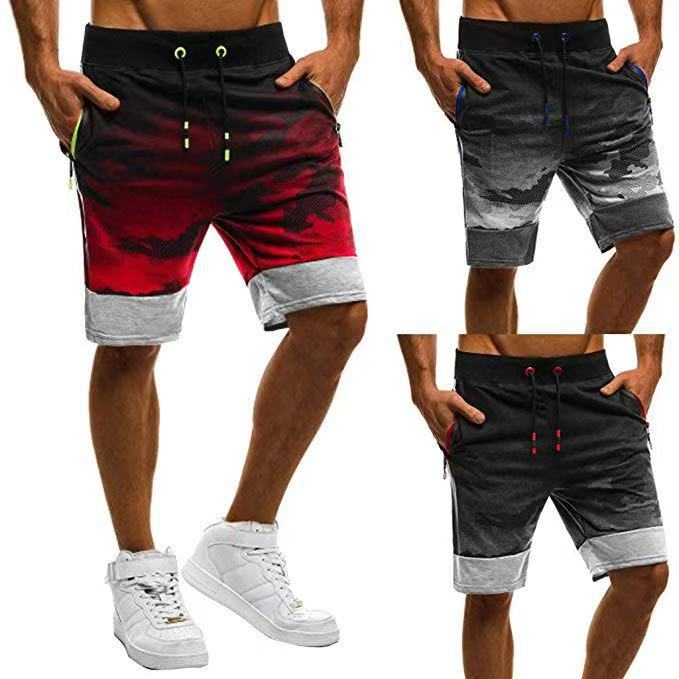 Shorts Men's 2019 Hot Selling Casual Camouflage Sports Slim Fit Fitness Short Men Jogger Pants K911