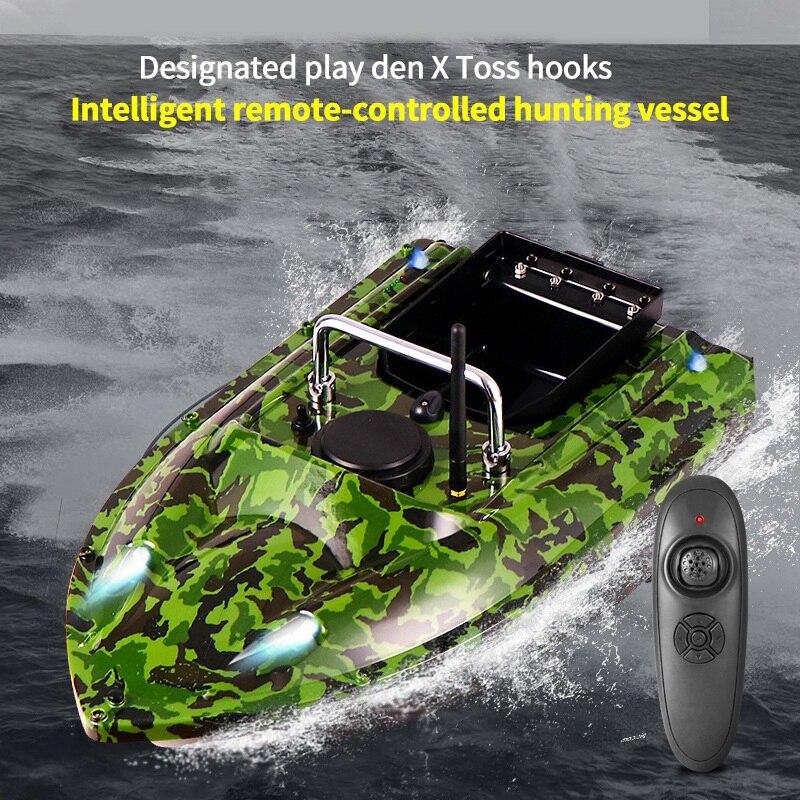 Камуфляжная рыболовная приманка, лодка с дистанционным управлением 500 м, рыболовная игрушка Кормушка, рыболовная приманка, лодка с вилкой е