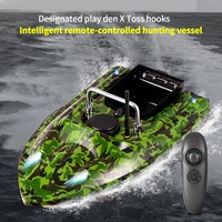 Camouflage Fishing Bait Boat RC Boat 500M Remote Control Fishing Feeder Toy Fishing Lure Bait Boat with EU Plug