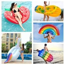Aufblasbare Matratze Schwimmen Pool Float Matratze Riesigen Pool Lounge Party Spielzeug Erwachsene Sommer Strand Schwimmen Ring Rettungsring Floß