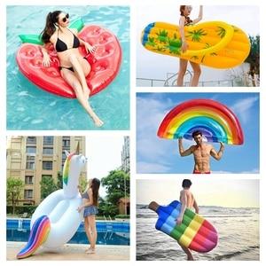 Image 1 - Nadmuchiwany materac pływanie pływający w basenie materac gigantyczny basen Lounge zabawki na imprezę dorosła letnia plaża nadmuchiwane koło koło ratunkowe tratwa