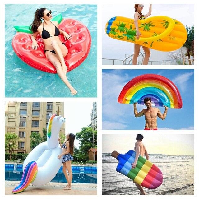 Nadmuchiwany materac pływanie pływający w basenie materac gigantyczny basen Lounge zabawki na imprezę dorosła letnia plaża nadmuchiwane koło koło ratunkowe tratwa