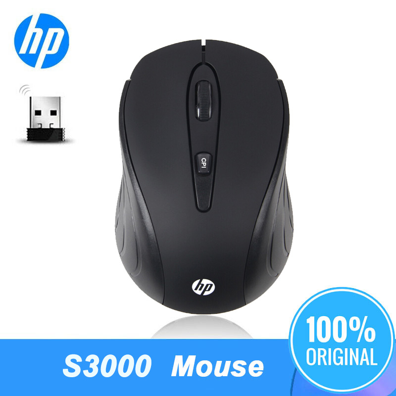 HP Wireless Mouse S3000 Optical Adjustable Office Mice PC Gamer Computer Laptop Mause for HP Notebook Freeshipping|Mice| |  - title=