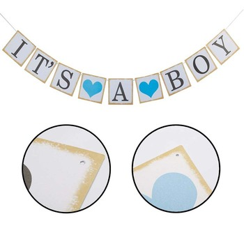 Baby Shower Boy Girl Decorations Set It's a Boy It's a Girl oh baby Balloons Gender Reveal Kids Birthday Party Baby Shower Gifts image