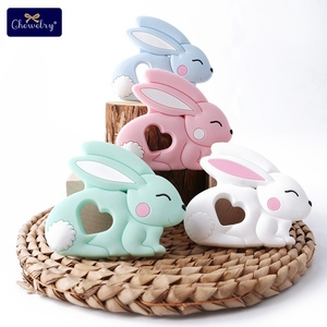Image 4 - 10pc Baby Silicone Teether Rodent Silicone animal Fox Pacifier teeth Pendant BPA Free Silicone Beads Chew Biter Children Goods