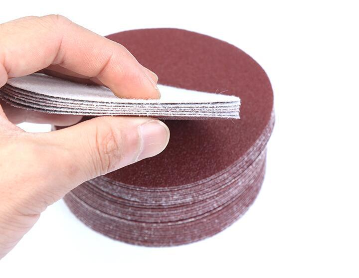 Red Sand 4-Inch 100 Size Flocking Sandpaper Pieces Round Plates SNAD Paper Disk Bei Rong Pian Circle Sand Paper Gas Grinding