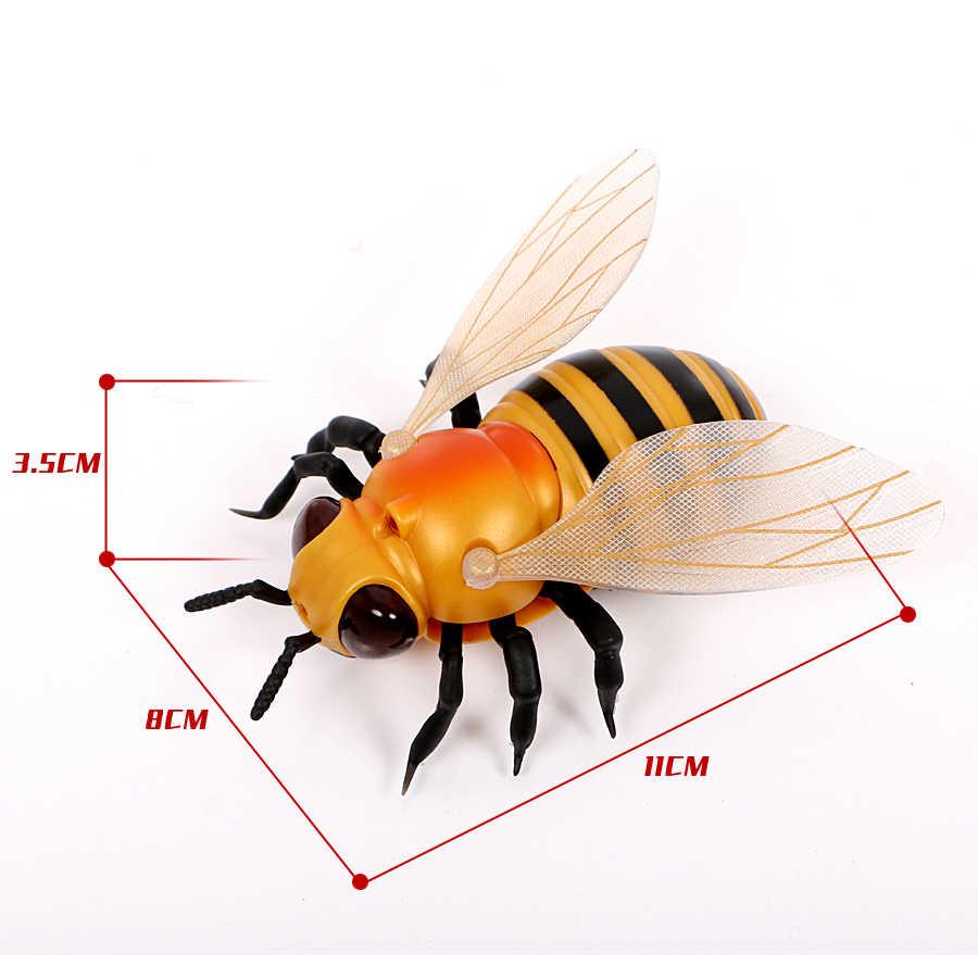 Kızılötesi RC böcekler Bal Arısı Modeli Oyuncak Simülasyon IR RC böcekler arı bal arısı elektronik pet robot modeli Prank oyuncak şaka oyuncakları