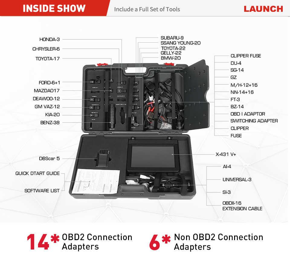 """Ra Mắt LAUNCH X431 V Plus 10 """"X 431 V + OBD2 Máy Quét Chẩn Đoán Ô Tô OBDII Tự Động Công Cụ Chẩn Đoán Bluetooth Xe Hơi wifi PK X431 Pro3 Pro"""