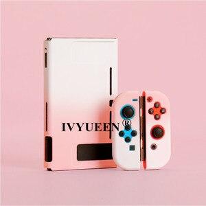 Image 2 - IVYUEEN עבור Nintend מתג NS NX קונסולת מגן מקרה קשה מעטפת עבור Nintendo מתג JoyCon שמחה קון צבעוני כיסוי אחורי