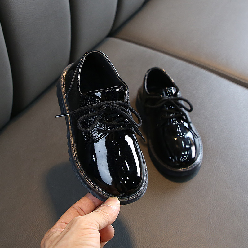 Autumn Boys Microfiber Leather Casual Loafers Baby/Toddler/Little Kid Black White Flats Children School Uniform Dress Shoe