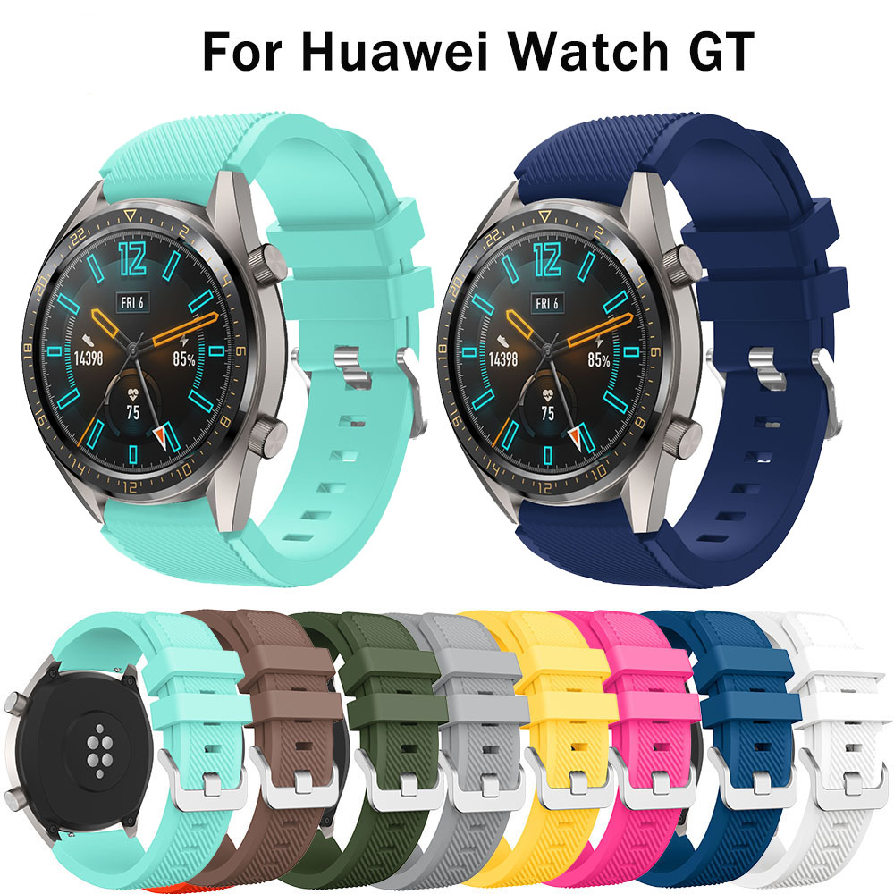22mm Silicone Watchbands For Huawei Watch GT Replacement Bracelet Watchstrap Wrist Belt For Samsung Gear S3 Classic Wrist Straps