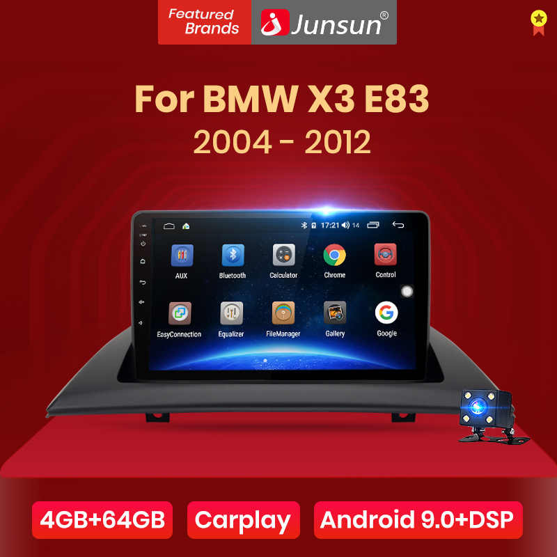 Junsun V1 Pro 4G + 64G Carplay Android 9.0 DSP Cho Xe BMW X3 E83 2004 - 2012 Xe Ô Tô đài Phát Thanh Đa Phương Tiện Video GPS RDS 2 DIN DVD