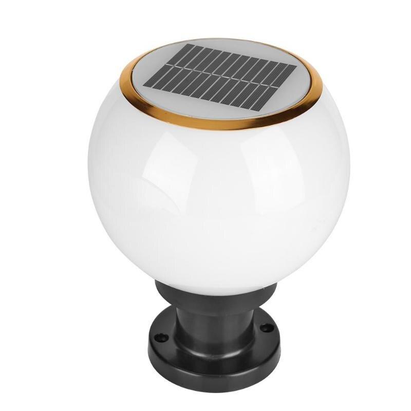 Waterproof Solar Power LED Bollard Light Outdoor Garden Yard Lawn Pillar Lamp Energy Saving Garden Security Lamp Home Decoration LED Lawn Lamps     - title=