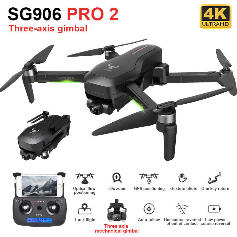 SG906 Pro 2 GPS Drone 4K HD Dual Kamera 5G WIFI 3-Achsen Gimbal 50X Zoom Professionelle bürstenlosen RC Quadcopter Eders