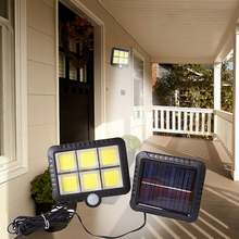 120led cob наружный датчик движения Солнечный настенный светильник