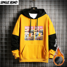 SingleRoad Nam Khoác Hoodie Nam Mùa Đông Trang Anime In Áo Nỉ Nam Hip Hop Nhật Bản Dạo Phố Harajuku Vàng Áo Hoodie Nam