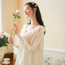 Xifer дворец стиль Чистый хлопок пижамы с длинным рукавом женский
