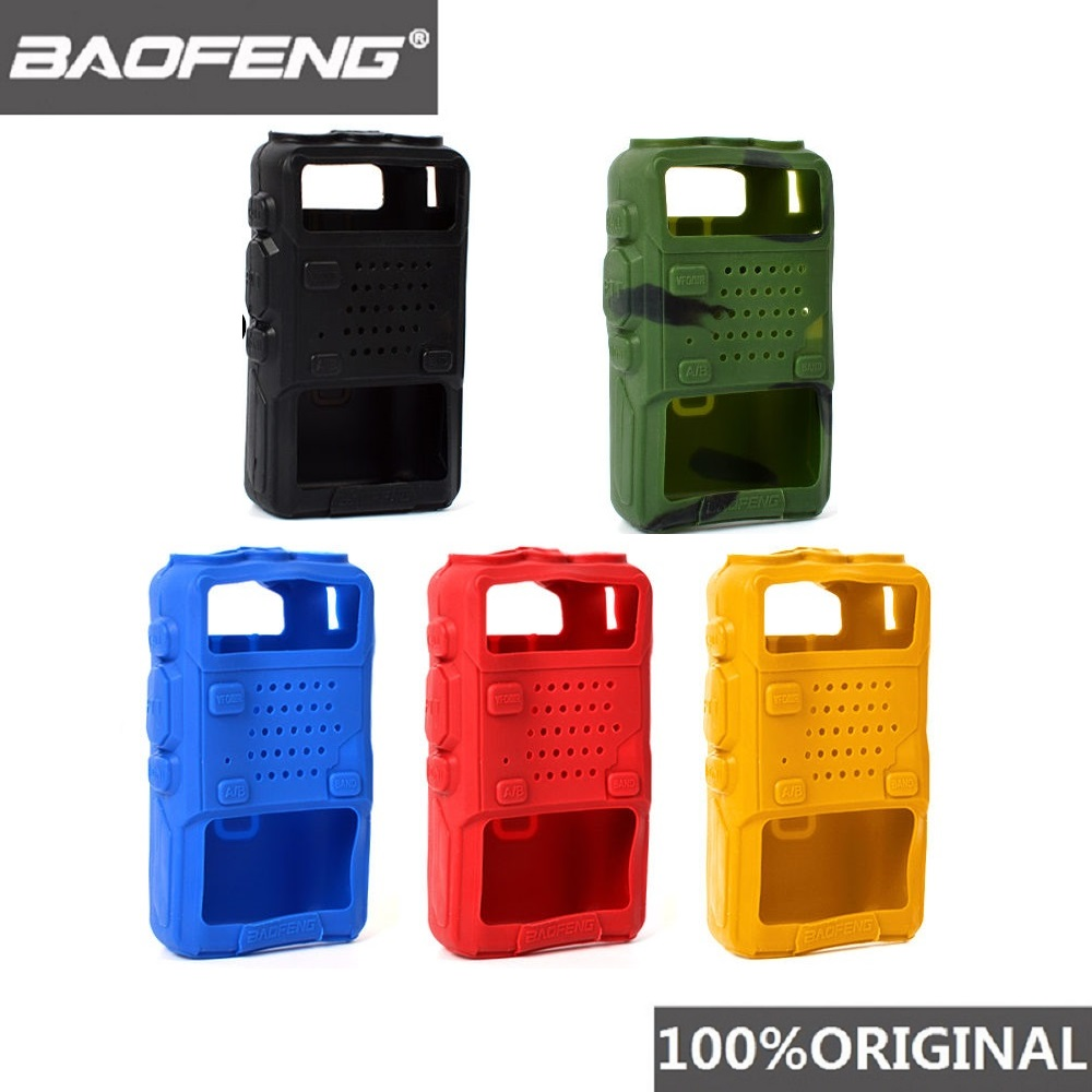 100% Walkie Talkie Protective Soft Handheld Case Cover Skin With Free Strap For Baofeng UV-5R Two Way Radio UV5R 5RA 5RE 5RC 5RT