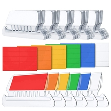 HOT-120 Sets File Document Tabs 2 Inch Hanging Folder Tabs and Multicolor Inserts for Quick Identification of Hanging Files