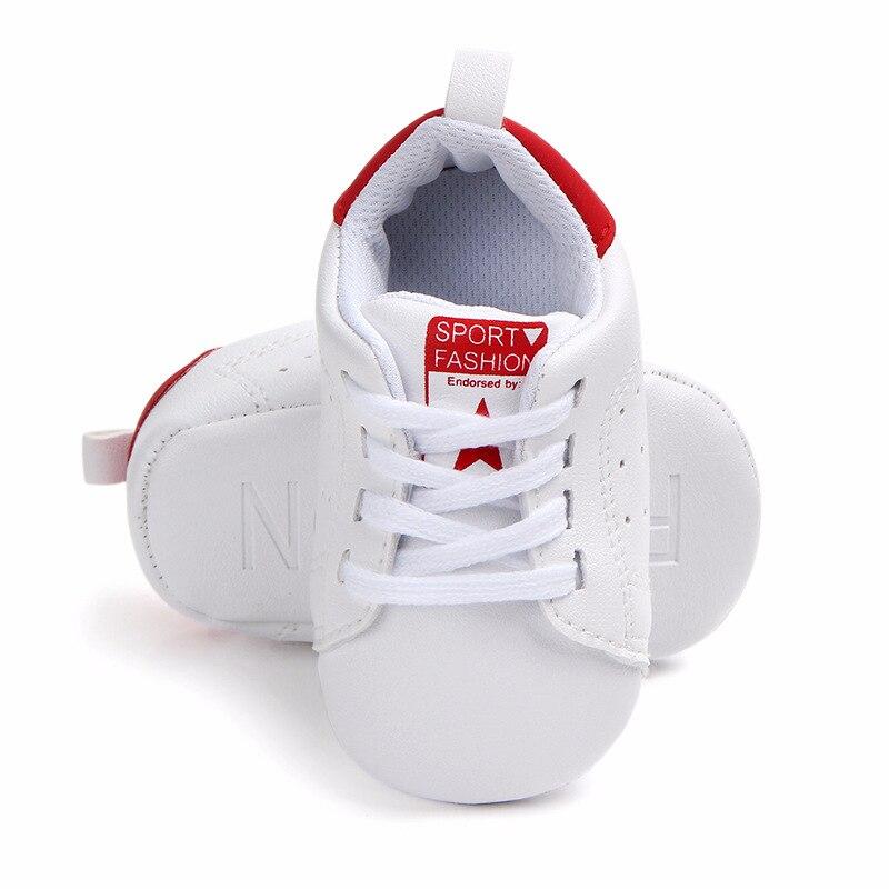 Chaussures bébé Garçon Fille Solide Sneaker Coton Doux Semelle Antidérapante Nouveau-Né Infantile Premiers Marcheurs Bambin décontracté Sport Chaussures de Berceau 4