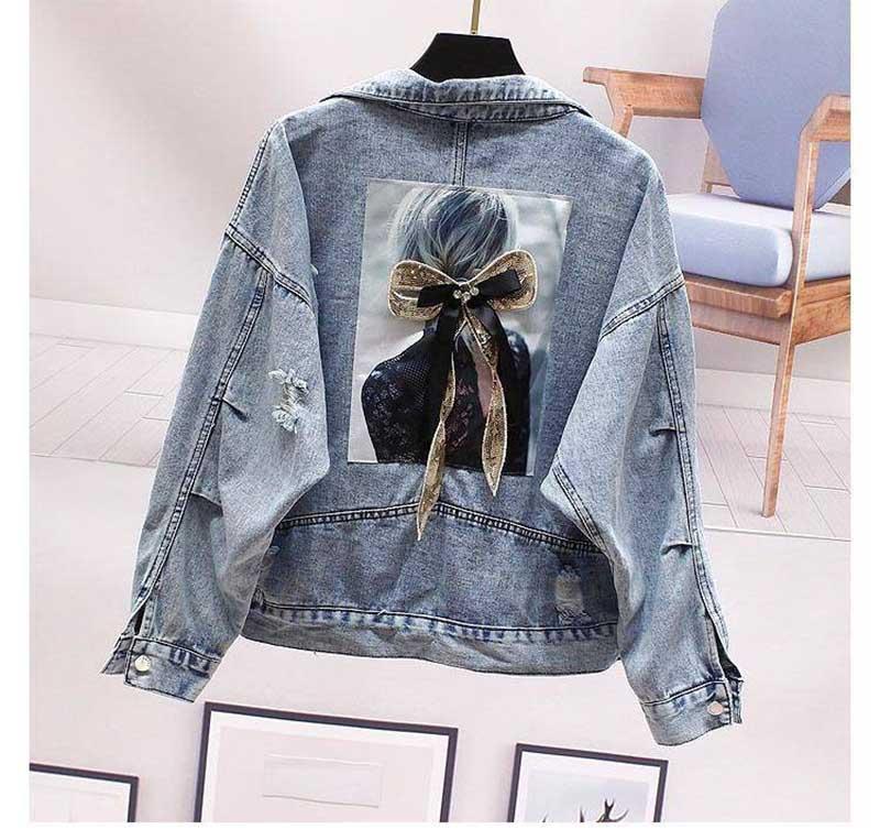 NiceMix Hole Jeans Jacket Women Frayed Denim Jacket Short Loose Spring Autumn Harajuku Chaquetas Mujer 2020 Jaqueta Feminina