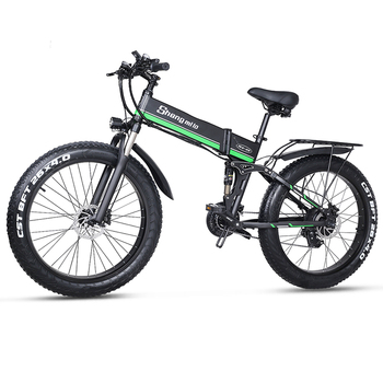 Electric Bike 48V 1000W Mens Mountain Fat Tire e bike 48V Lithium Battery