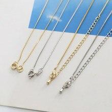2 pçs apertado fina corrente de cobra colar de corrente de osso cobre-folheado ajustável colar materiais de jóias selvagem diy acessórios