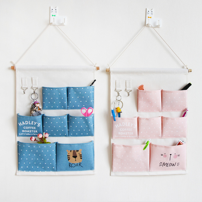 INS Nordic Carttoon Wall Storage Bag Newborn Baby In The Crib Infant Room Decor Photography Props Baby Bedroom Decoration Pacify