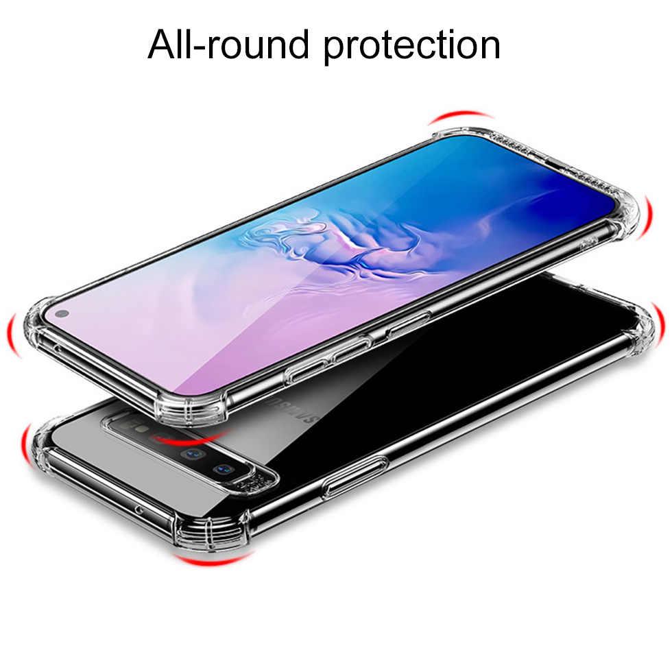 Darbeye yumuşak silikon temizle Samsung Galaxy S8 S9 S10 artı not 8 9 10 Pro M30 A10 A20 a30 A40 A50 cep telefonu kapağı