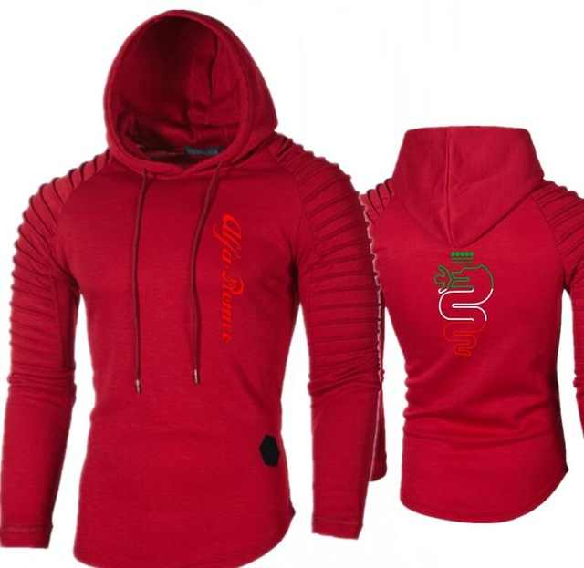 Herfst Mannen Trekkoord Hoodies Alfa Romeo Gedrukt Mens Fleece Dikke Warme Truien Trainingspak Hoody Casual Truien Streetwear Topx