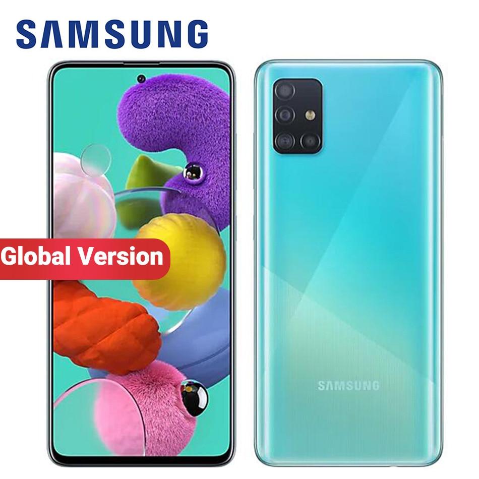 "Global Version Samsung Galaxy A51 A515F/DSN Mobile Phone 128GB ROM 8GB /6GB RAM 6.5"" 1080 x 2400 48MP 4000mAh NFC 4G Smartphone|Cellphones| - AliExpress"