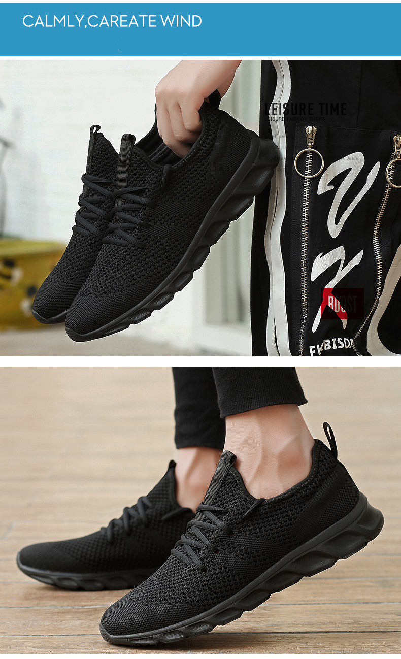 Hc9afdc9f960c43a9a4b1519e96ffd2fdn Men Light Running Shoes Flyknit Breathable Lace-Up Jogging Shoes for Man Sneakers Anti-Odor Men's Casual Shoes Drop Shipping