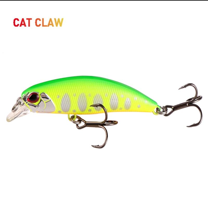 Cat Claw 3D Eyes LurePremiumSeriesCat ArtistMinnowFreshwaterFishingLureHardBait6g 68mm Professional SharpHook