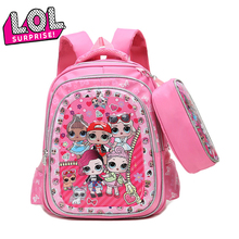 LOL Surprise Dolls Large Cartoon Cute Shoulder Children's School Backpacks for Teenage Girls Birthday Gifts Travel Backpack