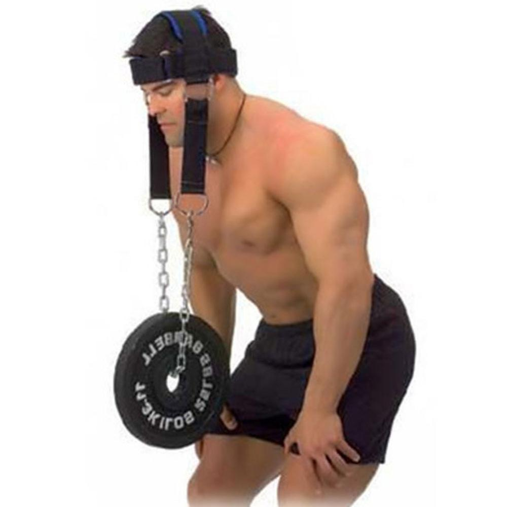 Weight Lifting Grip Bearing Cap Cowhide Head Neck Shoulder Muscle Training Plate