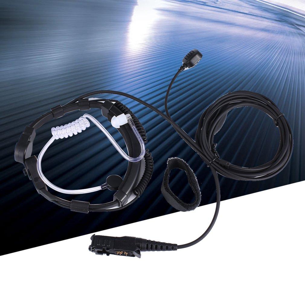 XQF Throat Mic Microphone Air Tube Earpiece PTT Earphone for Motorola Tetra Walkie Talkie MTP3250 MTP3100 DP2400 CB Radio