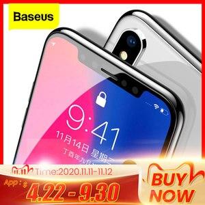 Image 1 - Baseus 0.3ミリメートルスクリーンプロテクター強化ガラス12 11プロxs max x xrフルカバー保護ガラスiphone 12プロマックス