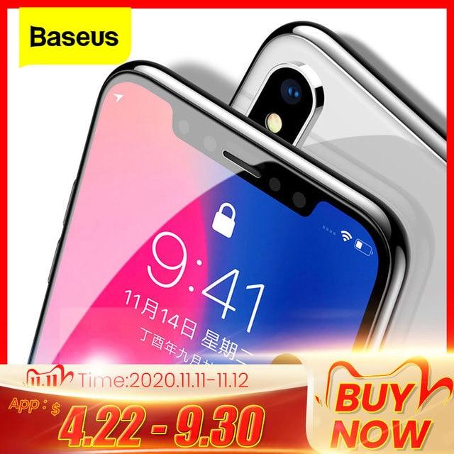 Baseus 0.3ミリメートルスクリーンプロテクター強化ガラス12 11プロxs max x xrフルカバー保護ガラスiphone 12プロマックス